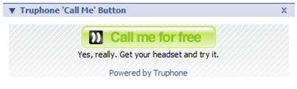 Facebook - Truphone Call Me Button