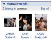 Facebook - Mutual Friends