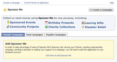 Sponsor Me Landing Page
