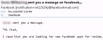 Facebook Email Notifications Now Contain Messages